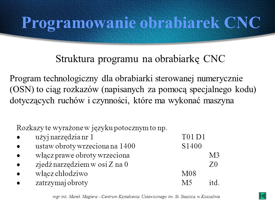 mgr inż.Marek Magiera - Centrum Kształcenia Ustawicznego im.