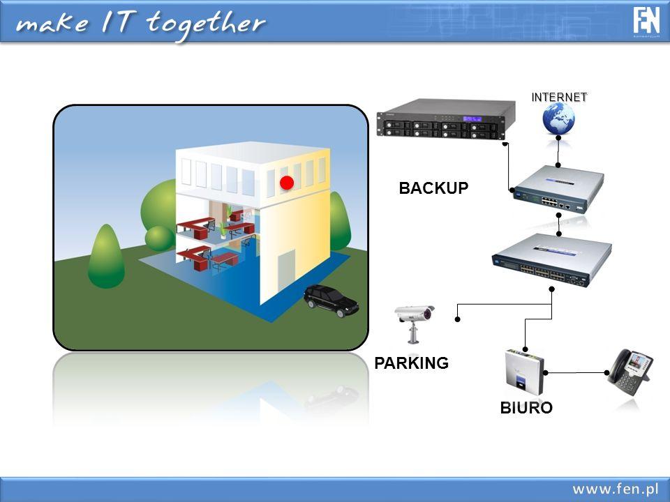 Archiwizacja danych Bezpieczeństwo przechowywanych danych na komputerach abonentów – klient może backupować automatycznie lub ręcznie swoje dane na udostępnionej specjalnie dla niego przestrzeni dyskowej.