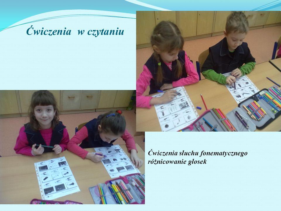 Ćwiczenia słuchu fonematycznego różnicowanie głosek Ćwiczenia w czytaniu