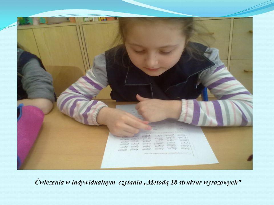 Ćwiczenia w indywidualnym czytaniu Metodą 18 struktur wyrazowych