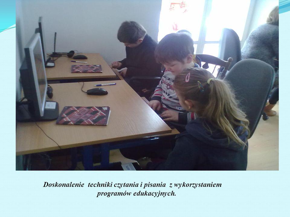 Doskonalenie techniki czytania i pisania z wykorzystaniem programów edukacyjnych.