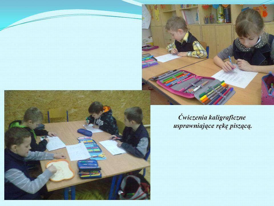 Ćwiczenia kaligraficzne usprawniające rękę piszącą.