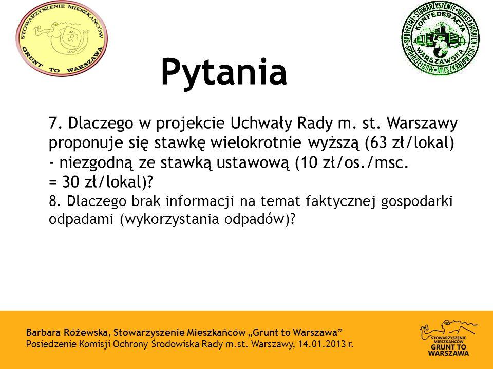 Pytania 7.Dlaczego w projekcie Uchwały Rady m. st.