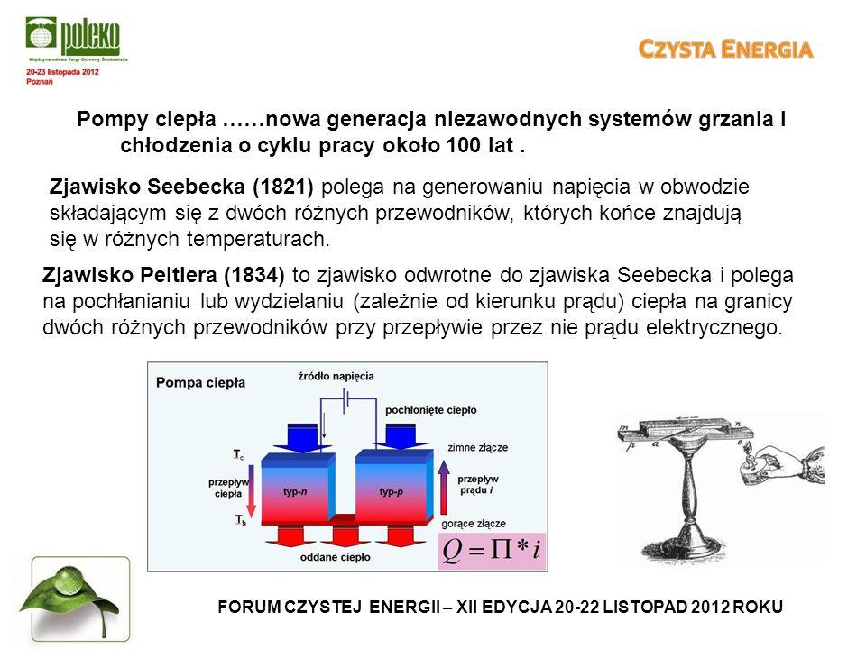 FORUM CZYSTEJ ENERGII – XII EDYCJA 20-22 LISTOPAD 2012 ROKU Pompy ciepła ……nowa generacja niezawodnych systemów grzania i chłodzenia o cyklu pracy około 100 lat.