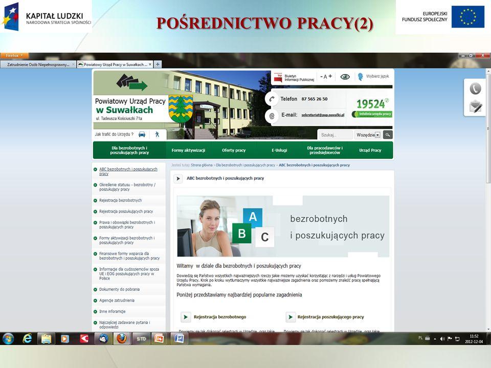 POŚREDNICTWO PRACY(2)