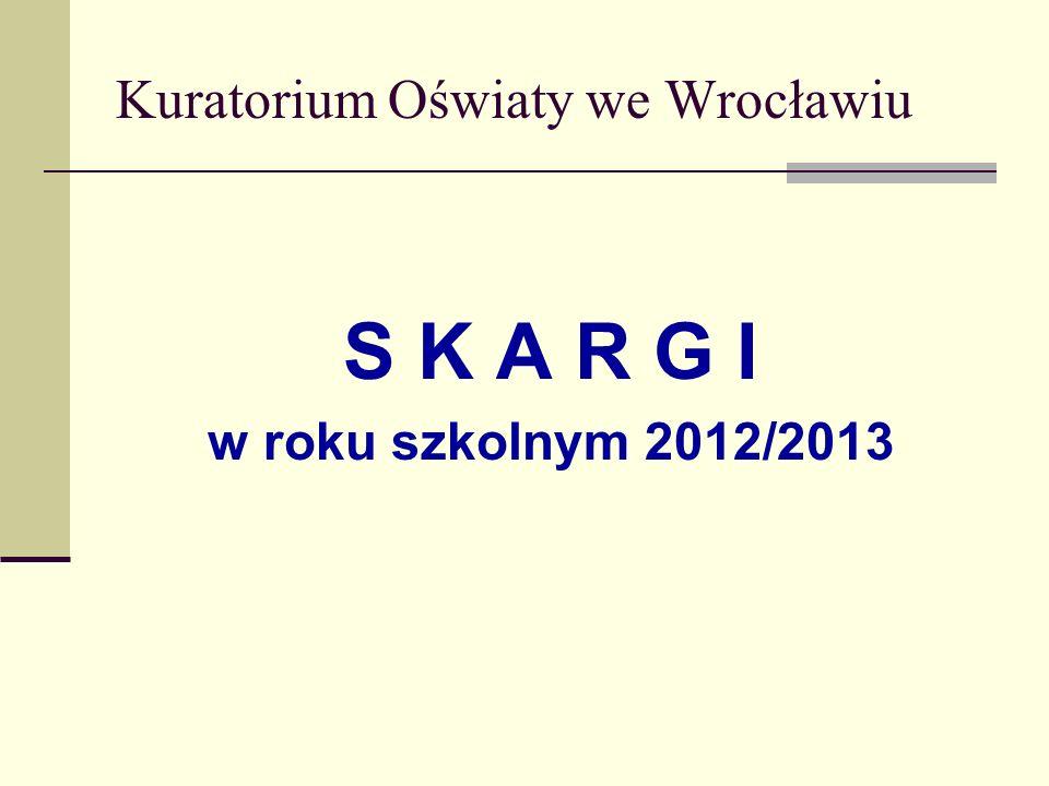 Kuratorium Oświaty we Wrocławiu S K A R G I w roku szkolnym 2012/2013