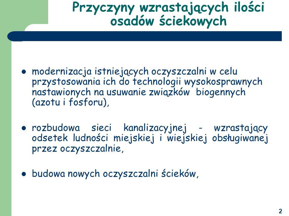 3 Uwarunkowania prawne zagospodarowywania osadów ściekowych USTAWA O ODPADACH, Zgodnie z art.