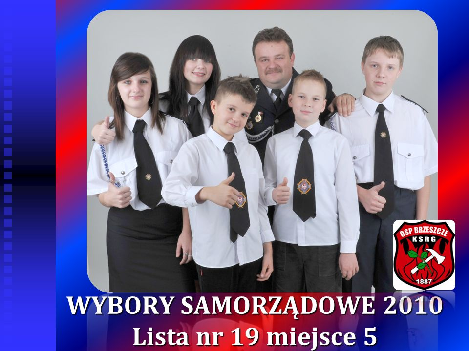 WYBORY SAMORZĄDOWE 2010 Lista nr 19 miejsce 5