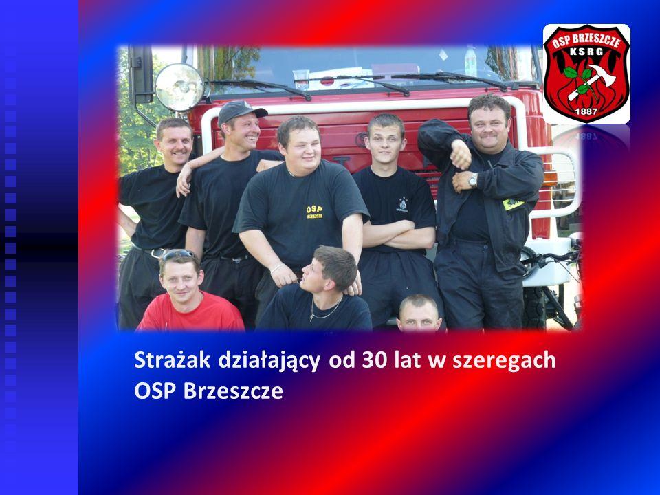 Strażak działający od 30 lat w szeregach OSP Brzeszcze