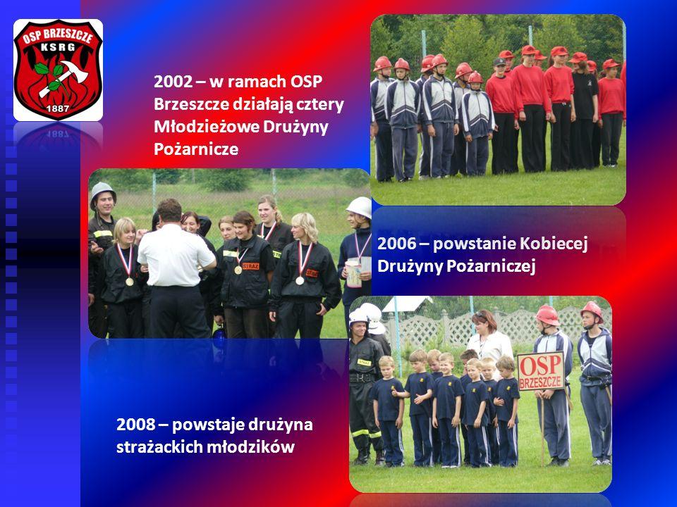 2006 – powstanie Kobiecej Drużyny Pożarniczej 2008 – powstaje drużyna strażackich młodzików 2002 – w ramach OSP Brzeszcze działają cztery Młodzieżowe