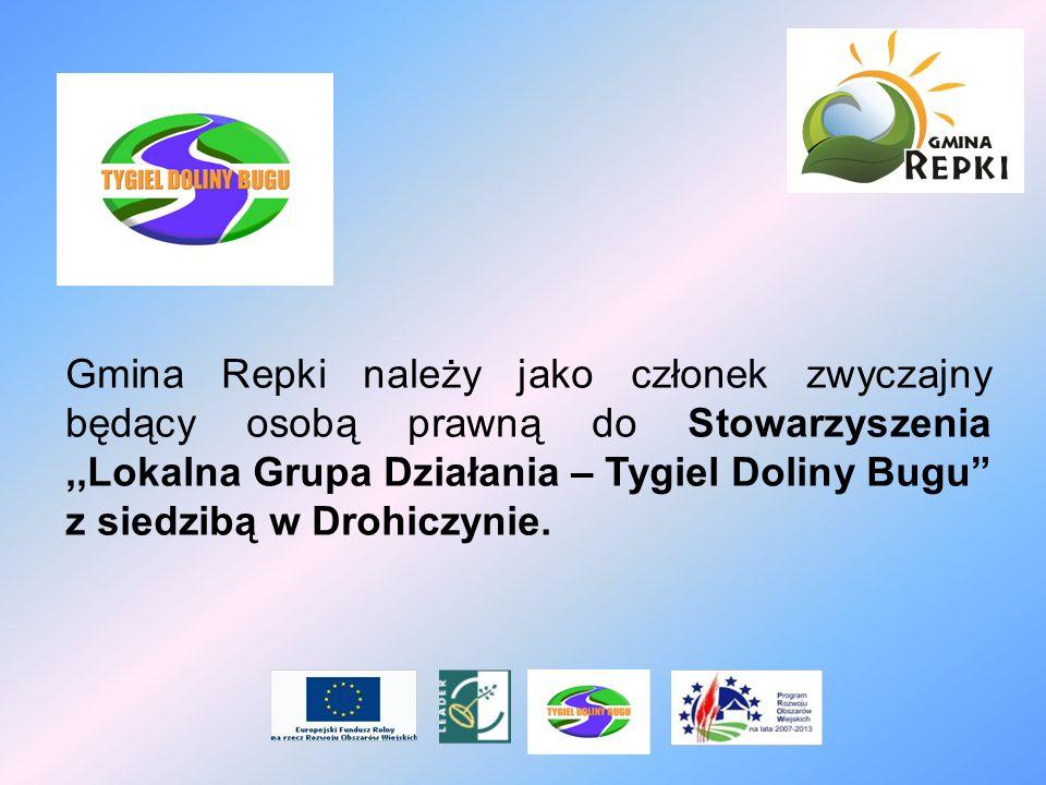 Gmina Repki należy jako członek zwyczajny będący osobą prawną do Stowarzyszenia,,Lokalna Grupa Działania – Tygiel Doliny Bugu z siedzibą w Drohiczynie
