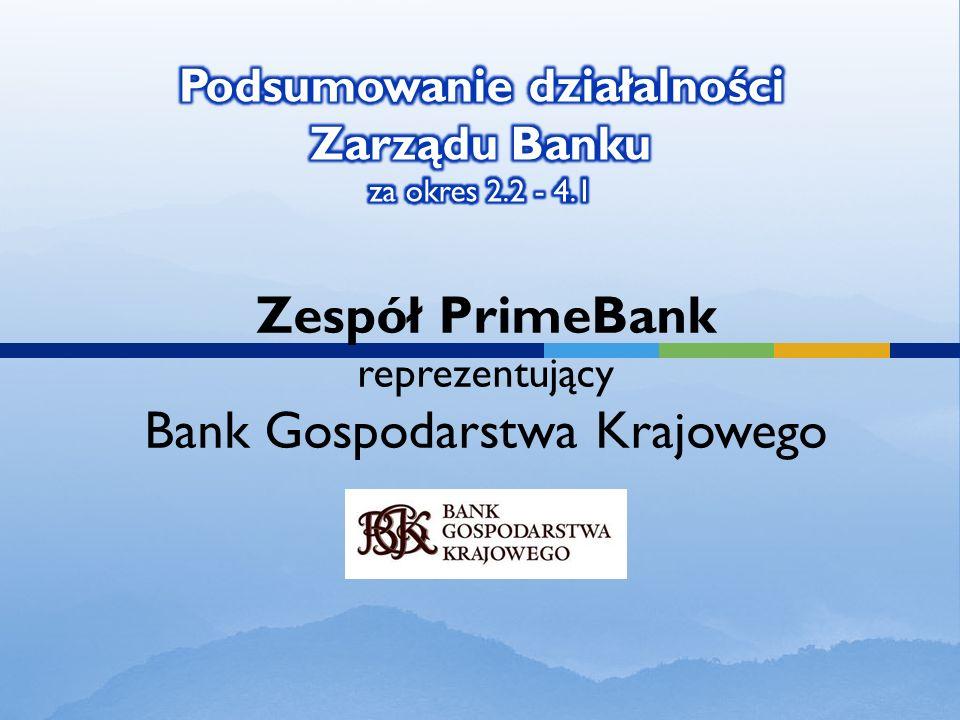 Zespół PrimeBank reprezentujący Bank Gospodarstwa Krajowego