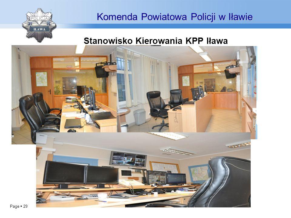 Page 29 Stanowisko Kierowania KPP Iława Komenda Powiatowa Policji w Iławie