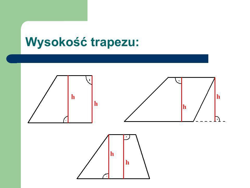 Równoważność trapezu i prostokąta.Wiemy już, jak oblicza się pole prostokąta.