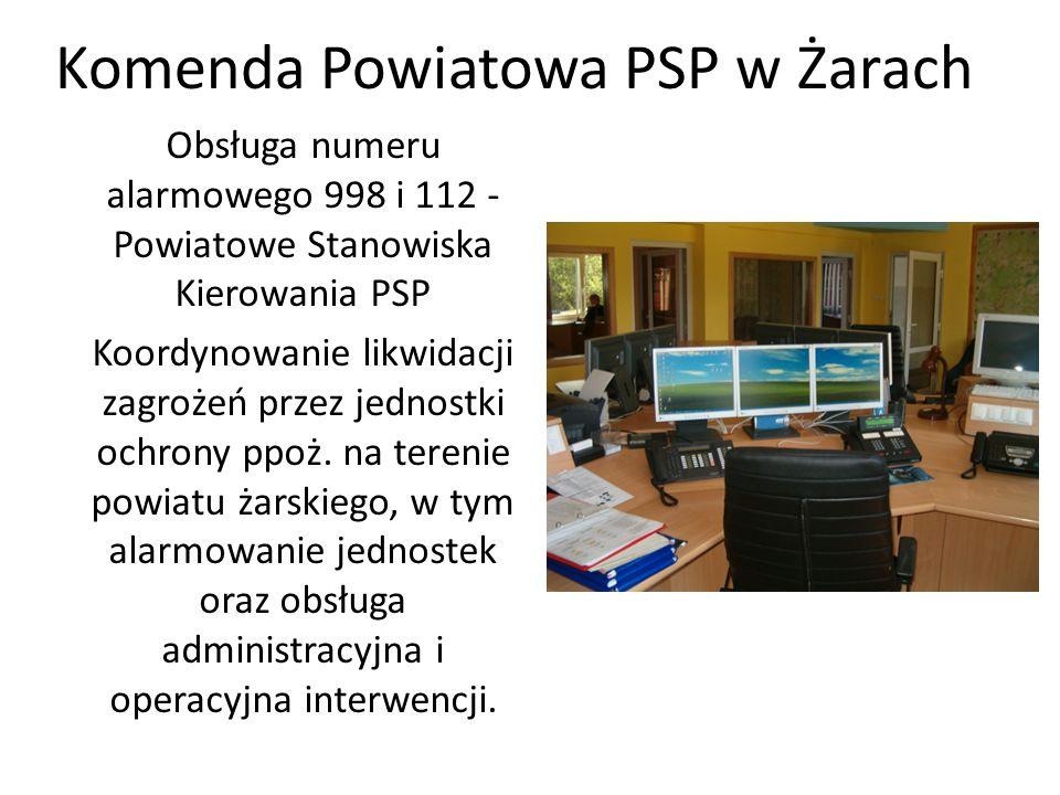 Obsługa numeru alarmowego 998 i 112 - Powiatowe Stanowiska Kierowania PSP Koordynowanie likwidacji zagrożeń przez jednostki ochrony ppoż. na terenie p