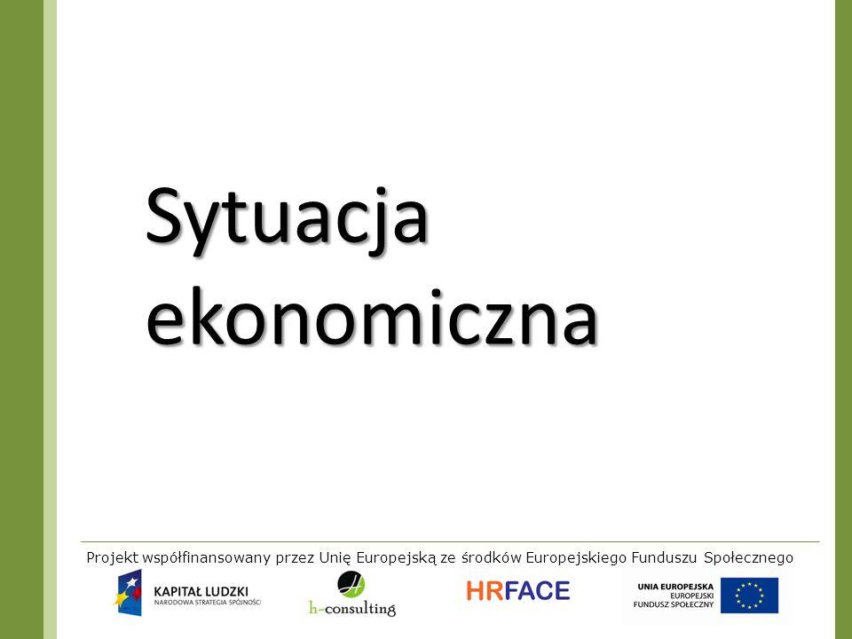 Projekt współfinansowany przez Unię Europejską ze środków Europejskiego Funduszu Społecznego Sytuacja ekonomiczna