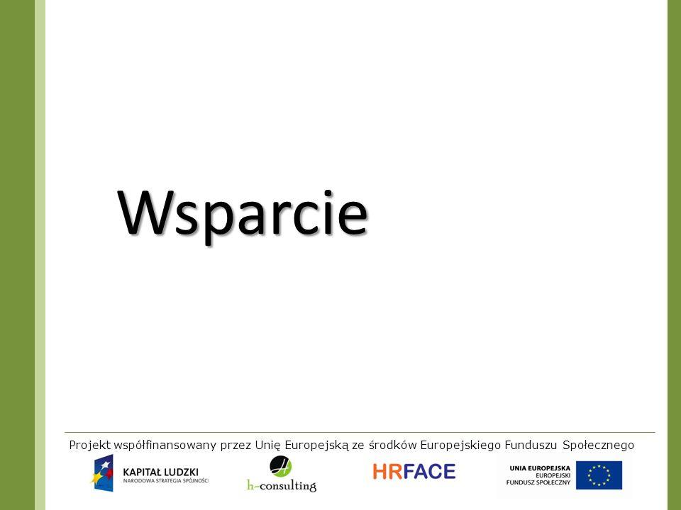 Projekt współfinansowany przez Unię Europejską ze środków Europejskiego Funduszu Społecznego Wsparcie