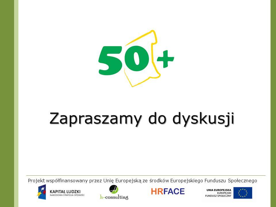Projekt współfinansowany przez Unię Europejską ze środków Europejskiego Funduszu Społecznego Zapraszamy do dyskusji