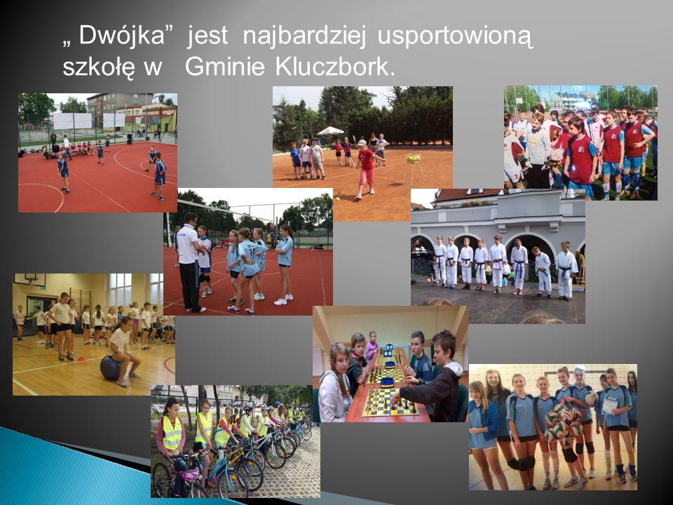 Dwójka jest najbardziej usportowioną szkołę w Gminie Kluczbork.