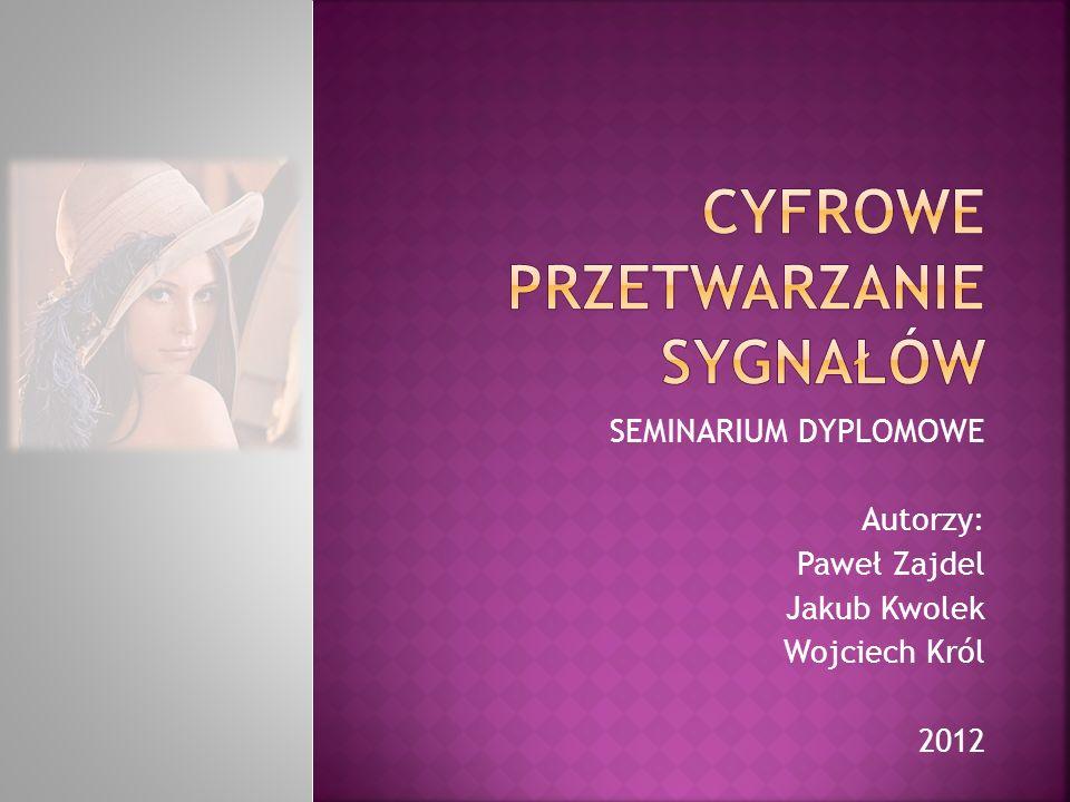 SEMINARIUM DYPLOMOWE Autorzy: Paweł Zajdel Jakub Kwolek Wojciech Król 2012