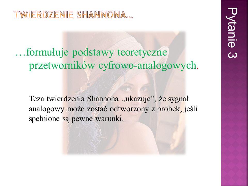 … jest wynikiem niespełnienia jednego z założeń twierdzenie Shannona.