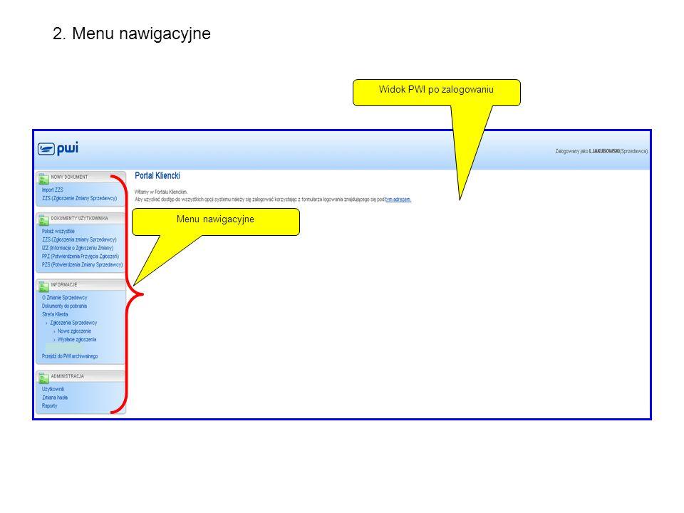 Tworzenie i wysyłanie dokumentów – Zgłoszeń Zmiany Sprzedawcy (ZZS) Pobranie szablonu csv dokumentu ZZS Zaczytanie przygotowanego z danymi dokumentu csv (ZZS) Wycofanie z zaczytania pliku csv Zapisanie pliku bez wysłania do OSD.