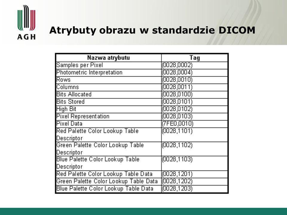 Atrybuty obrazu w standardzie DICOM