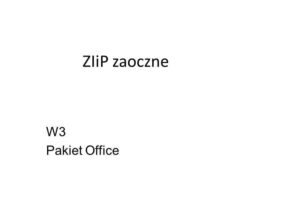 ZIiP zaoczne W3 Pakiet Office