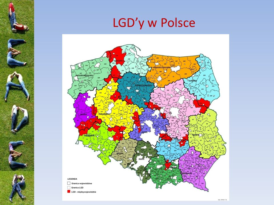 LGD a LGR 4 organizacje funkcjonują jednocześnie jako LGD i LGR 1 struktura (organizacja) 2 strategie Pozostałe LGR obejmują swoją LSROR obszary objęte także LSR realizowanymi przez LGD 2 struktury (organizacje) 2 strategie