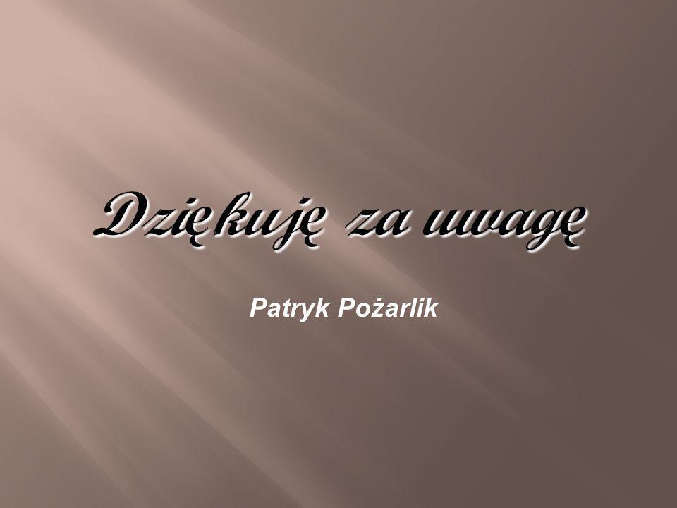 Dzi ę kuj ę za uwag ę Patryk Pożarlik