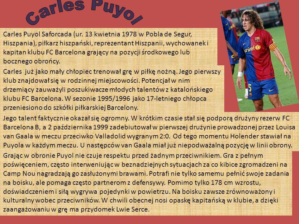 Carles Puyol Saforcada (ur.