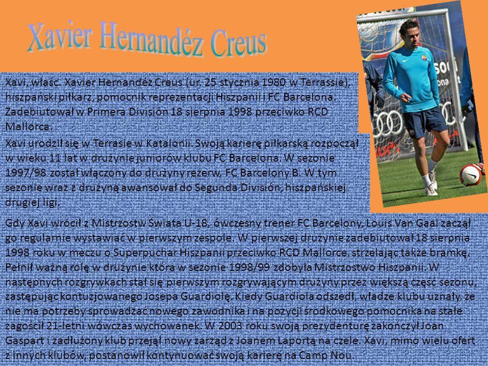 Xavi, właśc.Xavier Hernandéz Creus (ur.