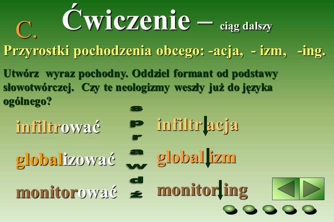 Podobno do neologizmów zaliczamy także zapożyczenia z języków obcych...