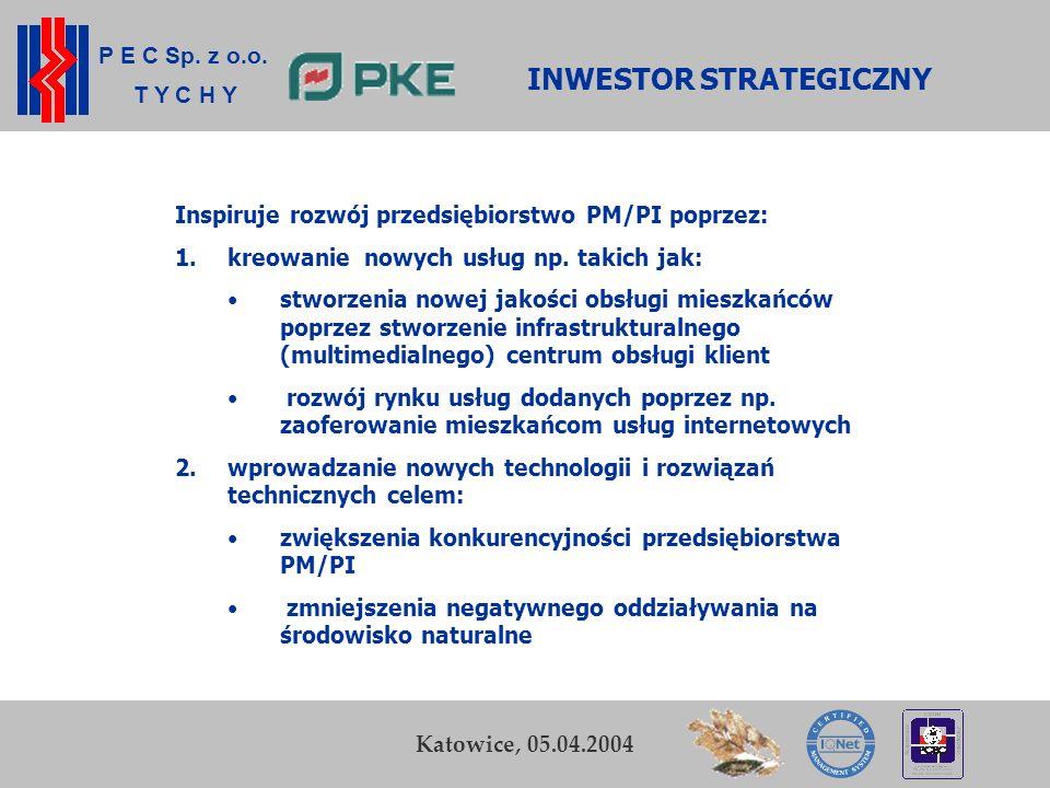 P E C Sp. z o.o. T Y C H Y K. Zamasz Kraków, 5-6 listopada 2003 16 Przedsiębiorstwo Energetyki Cieplnej Sp. z o.o. w Tychach Katowice, 05.04.2004 INWE