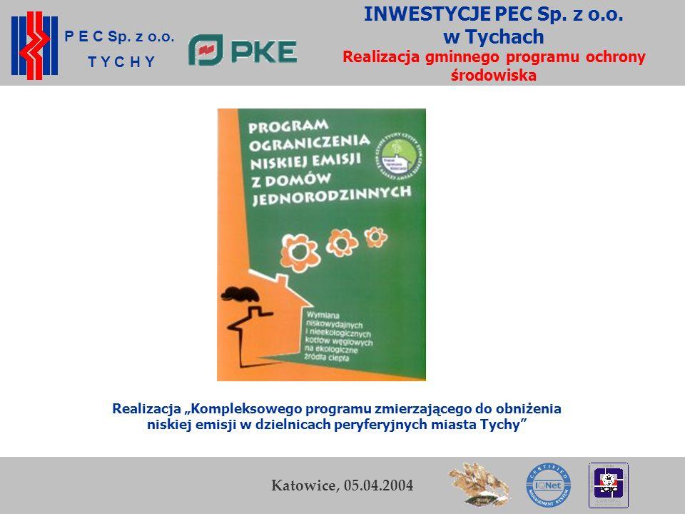 P E C Sp. z o.o. T Y C H Y K. Zamasz Kraków, 5-6 listopada 2003 19 Przedsiębiorstwo Energetyki Cieplnej Sp. z o.o. w Tychach INWESTYCJE PEC Sp. z o.o.