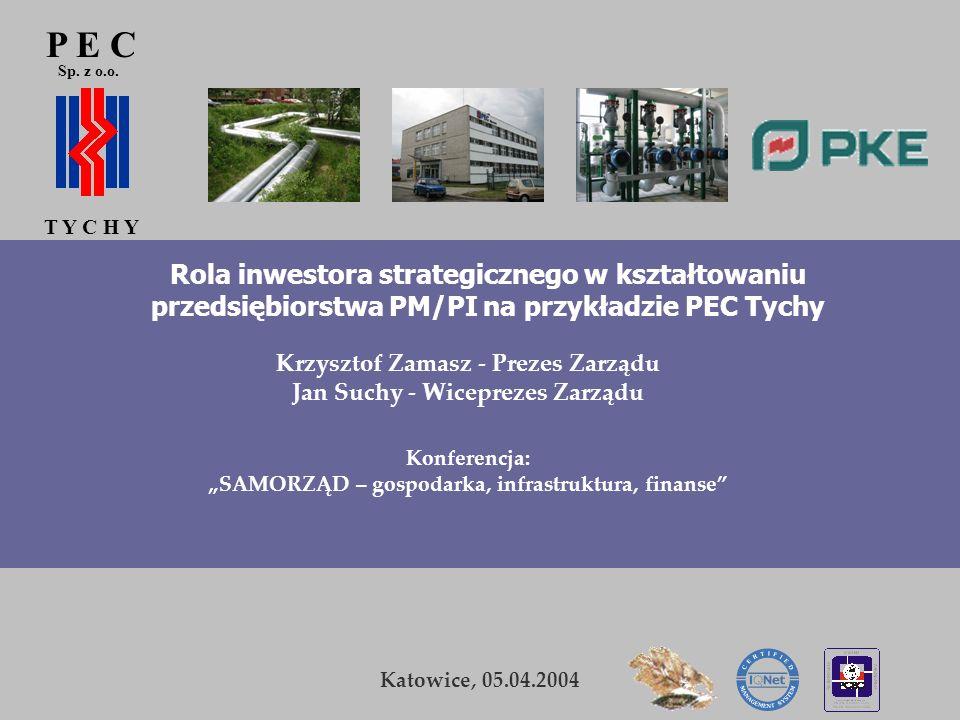 P E C Sp. z o.o. T Y C H Y K. Zamasz Kraków, 5-6 listopada 2003 2 P E C T Y C H Y Sp. z o.o. Rola inwestora strategicznego w kształtowaniu przedsiębio
