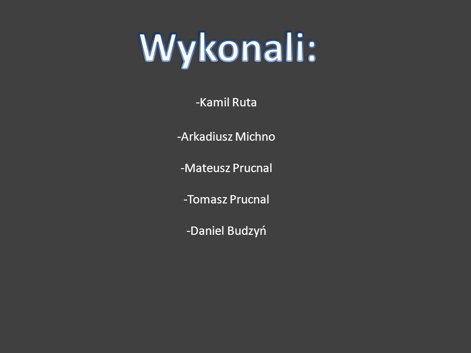 -Kamil Ruta -Arkadiusz Michno -Mateusz Prucnal -Tomasz Prucnal -Daniel Budzyń