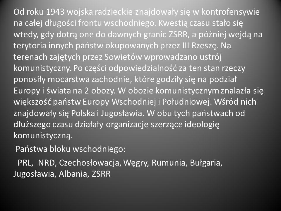 Państwa postkomunistyczne - zbiorcze określenie odnoszące się do państw Europy Środkowo-Wschodniej oraz Azji, które na przełomie lat 80/90.