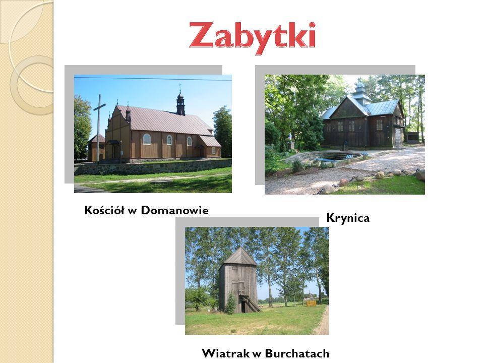 Kościół w Domanowie Krynica Wiatrak w Burchatach