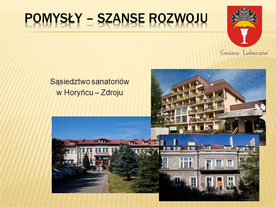 Sąsiedztwo sanatoriów w Horyńcu – Zdroju