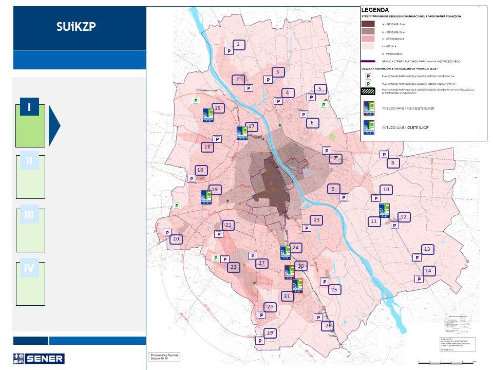 8 I II III IV Analiza dokumentów związanych z budową parkingów P+R Uchwała nr LVIII/1749/2009 wraz z załącznikiem Strategia Zrównoważonego Rozwoju Systemu Transportowego Warszawy do 2015 roku i na lata kolejne, 9 lipca 2009 r.