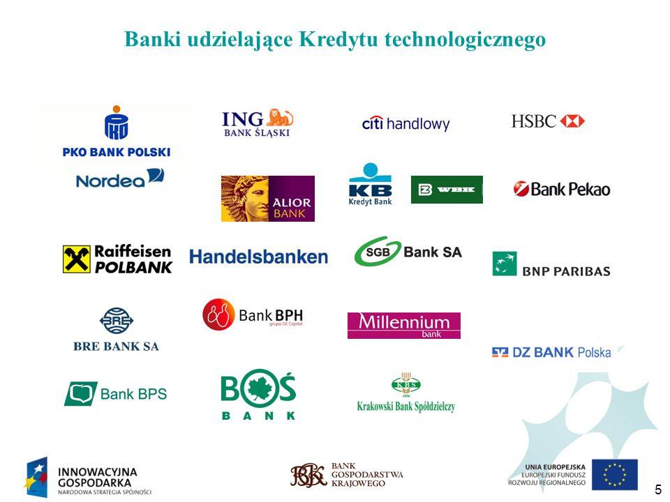 6 Popularność Kredytu technologicznego Od początku funkcjonowania kredytu technologicznego w ramach PO IG, tj.