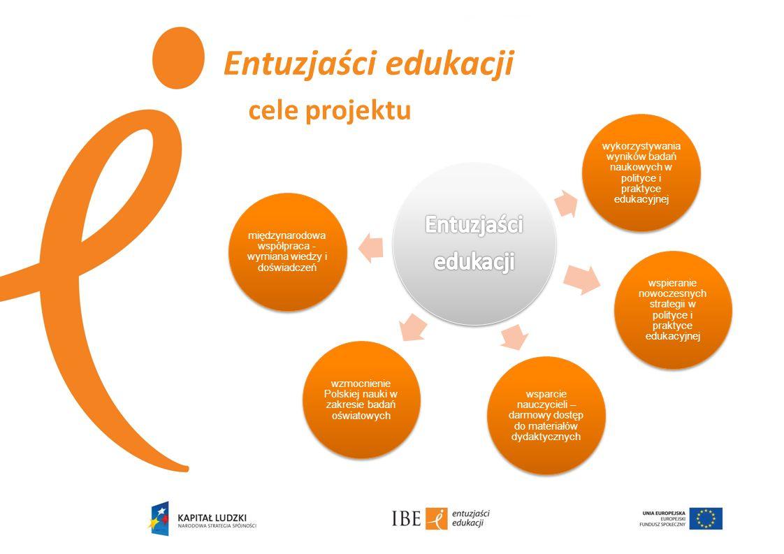 Entuzjaści edukacji cele projektu wykorzystywania wyników badań naukowych w polityce i praktyce edukacyjnej wspieranie nowoczesnych strategii w polity