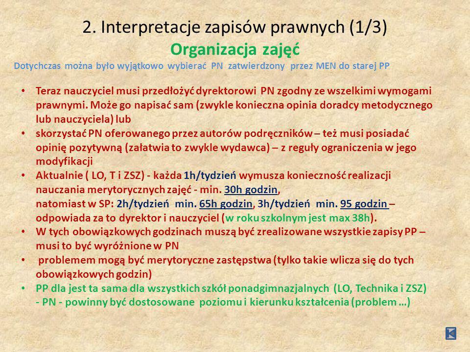 2.Interpretacje zapisów prawnych (2/3) Wymagania formalne od PN Poprawny PN musi zawierać, m.in.