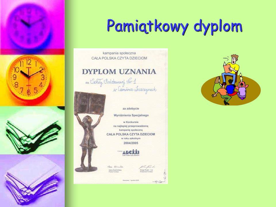 Pamiątkowy dyplom Pamiątkowy dyplom