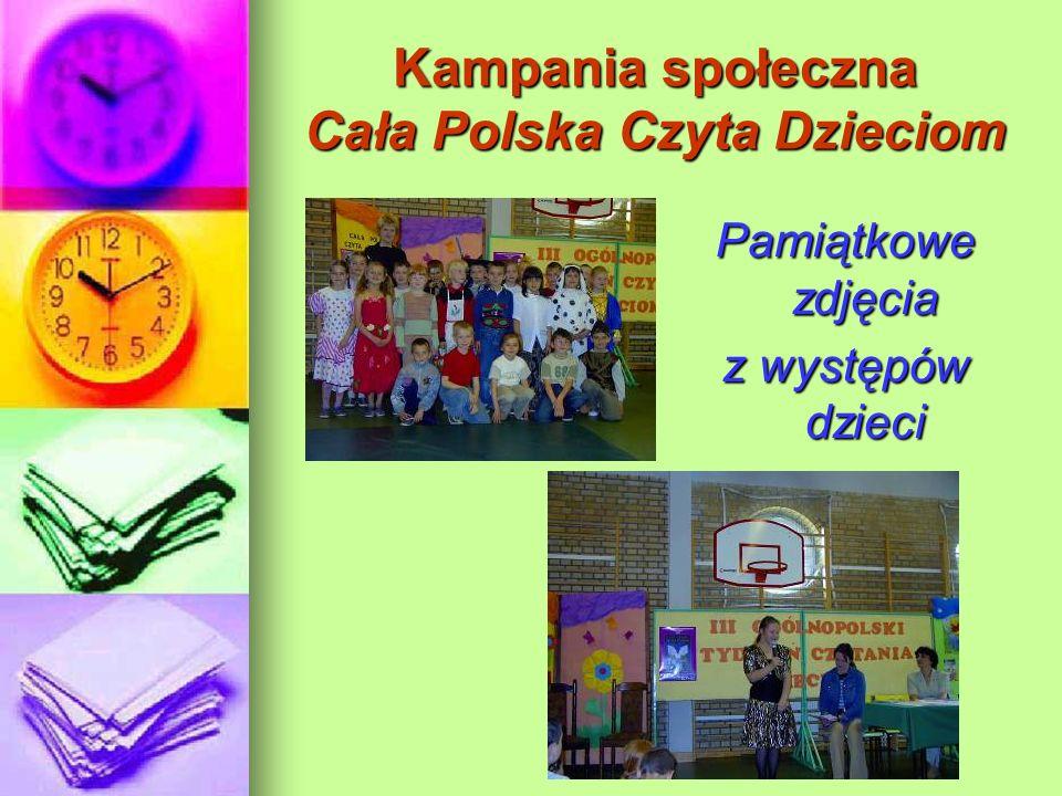 Kampania społeczna Cała Polska Czyta Dzieciom Pamiątkowe zdjęcia z występów dzieci