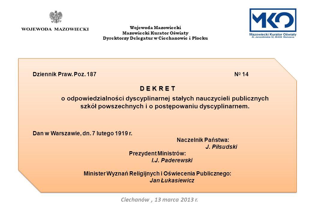 Ciechanów, 13 marca 2013 r.