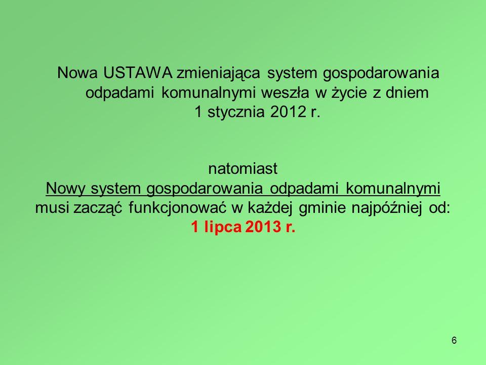 7 Każda Gmina musi najpóźniej do dnia 31 grudnia 2012 r.