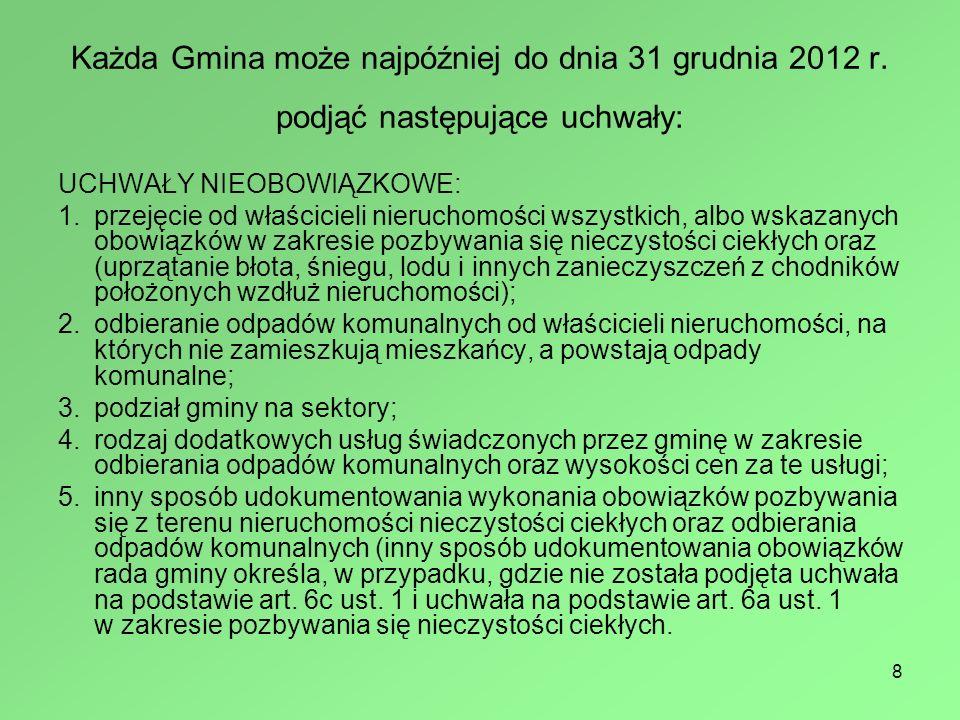 8 Każda Gmina może najpóźniej do dnia 31 grudnia 2012 r.