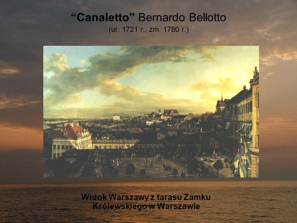 Canaletto Bernardo Bellotto (ur. 1721 r., zm. 1780 r.) Widok Warszawy z tarasu Zamku Królewskiego w Warszawie